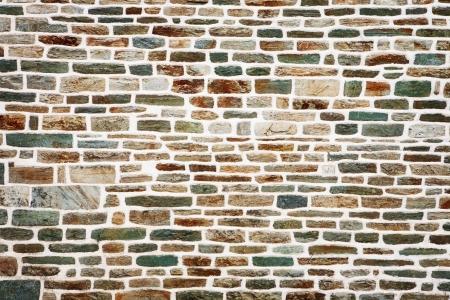 cobblestone street: Stone wall Stock Photo