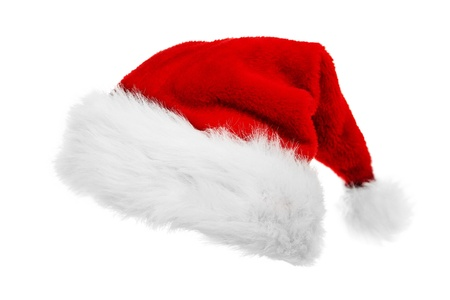 Red Santa Claus Hut Standard-Bild