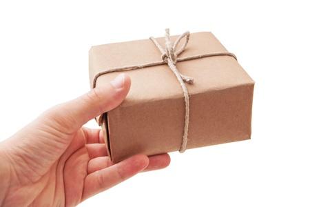 brownish: Hand deliver a parcel