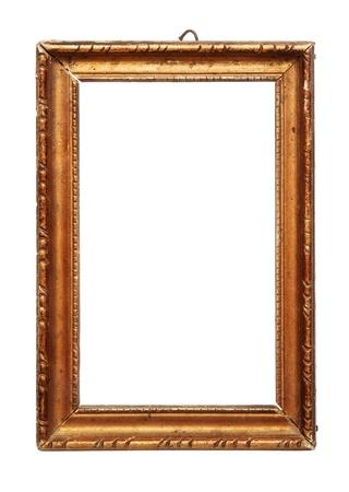 marco madera: Antiguo marco de madera