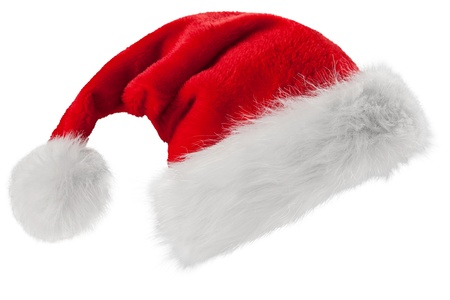 Red Santa Claus hat photo