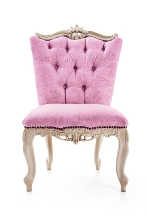 leather chair: Pink vintage luxury armchair Stock Photo