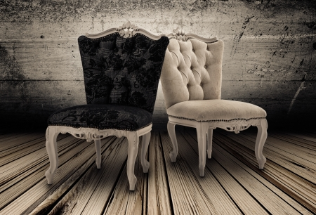 leather armchair: Underground Interior