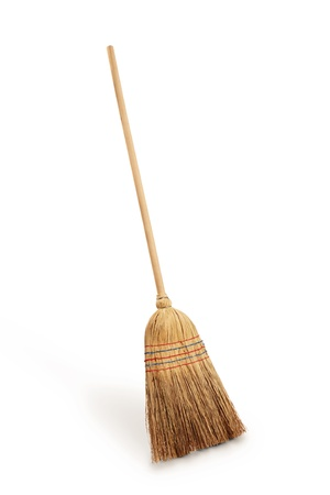 broom: Straw broomstick