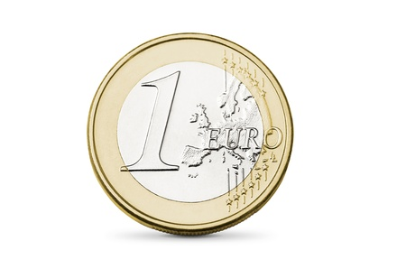 One euro coin photo