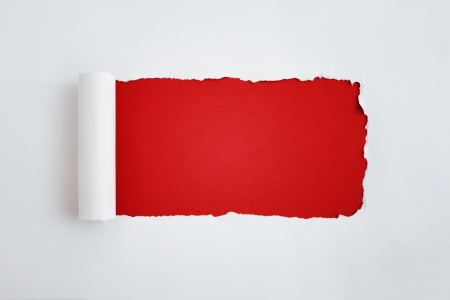 rips: Torn white paper with space for text Stock Photo