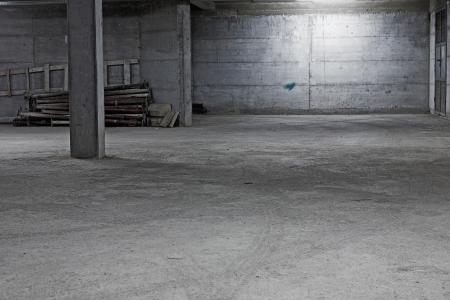 parking lot interior: Underground garage construction Stock Photo