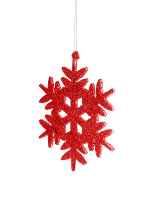 adorn: Christmas red star Stock Photo