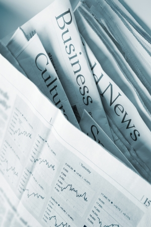 publishes: Business News Stock Photo