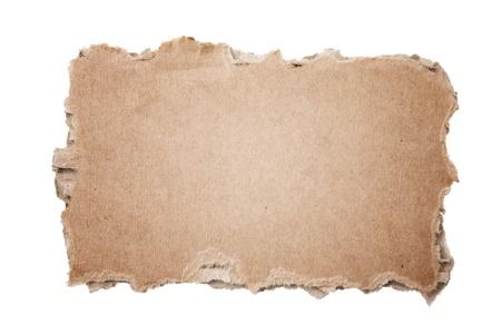 papel reciclado: Pedazo de cartón Foto de archivo