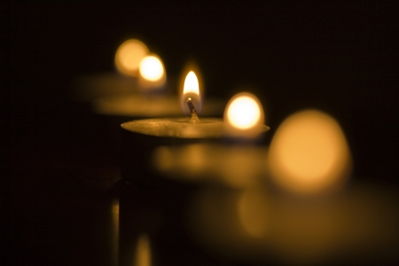 calm background: Candles Stock Photo