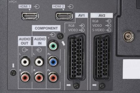 LCD TV-Audio video input Archivio Fotografico