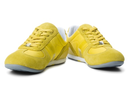 Yellow sneakers photo