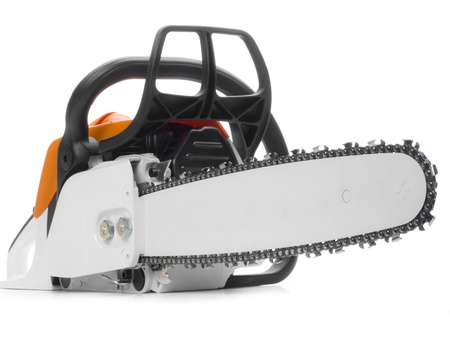sawyer: Chainsaw Stock Photo