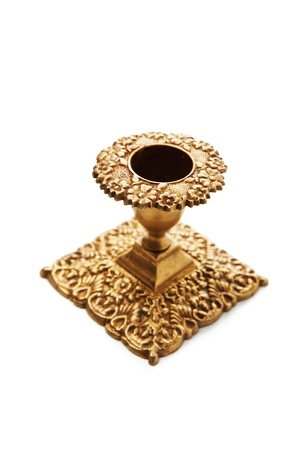 candle holder: Antique old candlestick