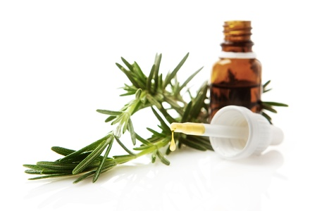 essential oils: Rosemary essential oil Stock Photo
