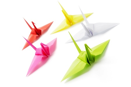 five objects: Origami