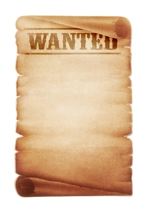 Old western wanted sign