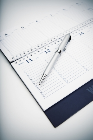 Organizer and Pen -Business planning photo