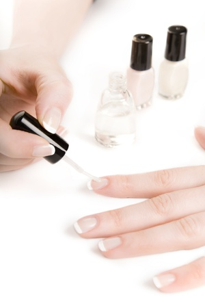 French manicure Stock Photo - 18247886