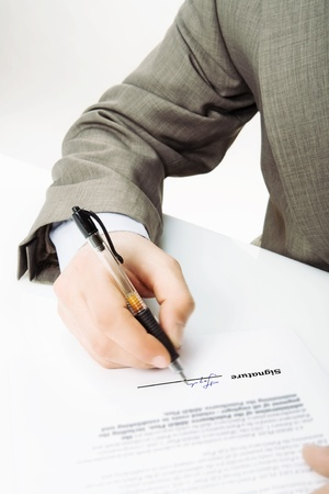 Signature -The signature of business contract Stock Photo - 18247934