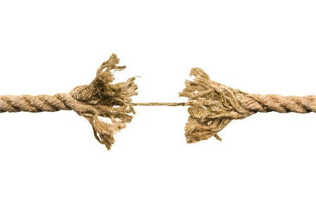 unwinding: Frayed rope
