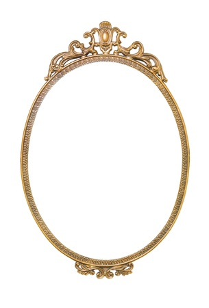 oval frame golden antique frame