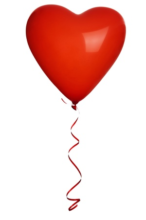 Red heart balloons