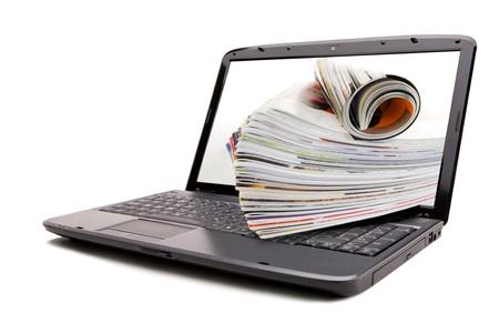 Online-Rezension Zeitschriften Standard-Bild