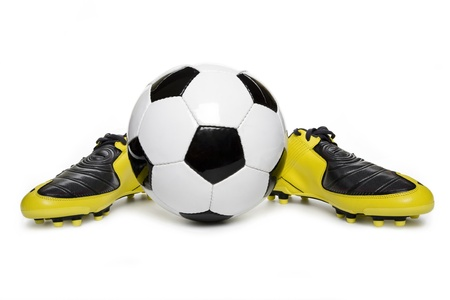 soccer cleats: Soccer footwear and football Stock Photo