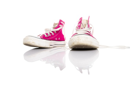 Pink sneakers photo