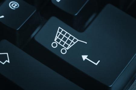 Pulsante per gli acquisti sulla tastiera Il negozio-online Archivio Fotografico