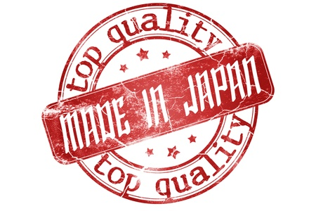Made in Japan stamp -Clipping path included photo