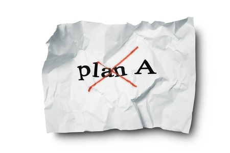 failed plan: Failed plan A Stock Photo