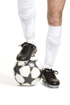 football socks: Soccer player with ball