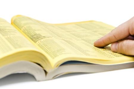 Gelbe Seiten Suche Standard-Bild - 21289543