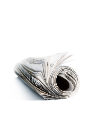 Roll of newspapers photo