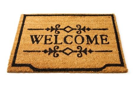 Welcome mat Standard-Bild