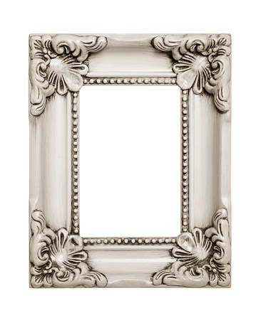 Vintage wooden frame include path photo