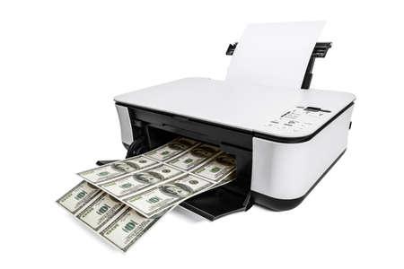 dinero falso: Facturas de impresora de impresión falsa de dólares