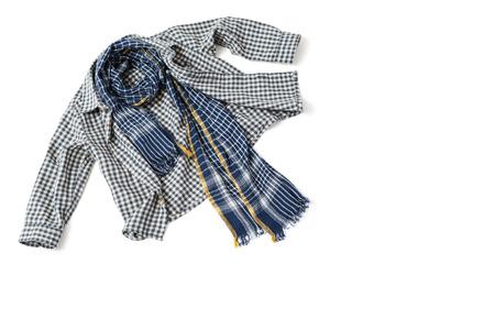 children s: Children s shirt and scarf Stock Photo