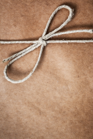 Brown paper parcel with copy space photo