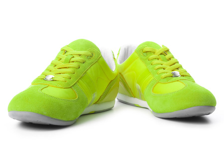 athletic wear: Green sneakers