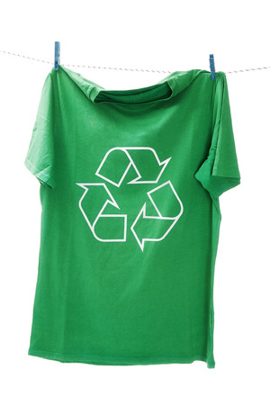 T-shirt with the recycle symbol photo