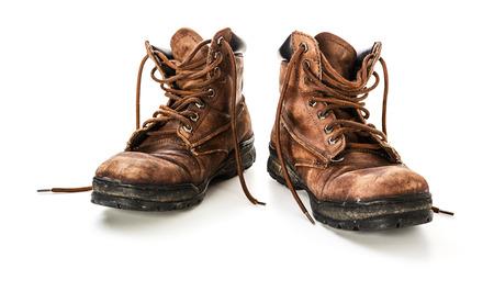 古い革の靴