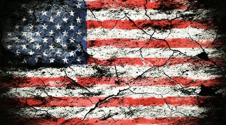 antiqued: Grunge flag of USA