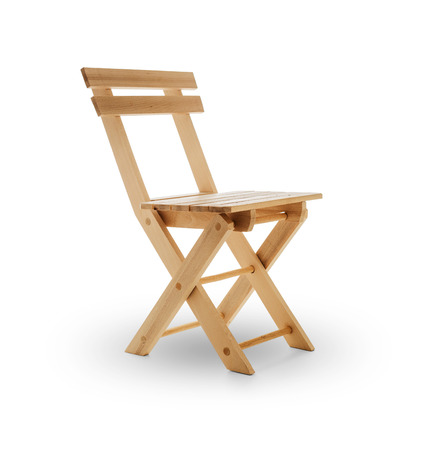 wooden furniture: Wooden folding chair -Clipping Path