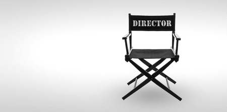 Director chair -including clipping path photo
