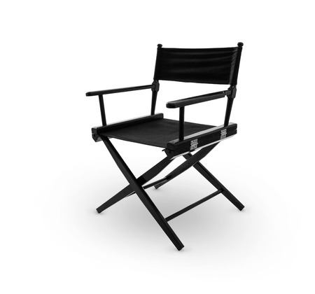 Director chair -including clipping path Stockfoto
