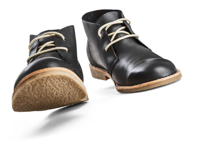 Black leather shoes -Clipping Path photo